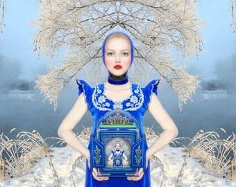 "Postcard art photography ""девушка от холода"""