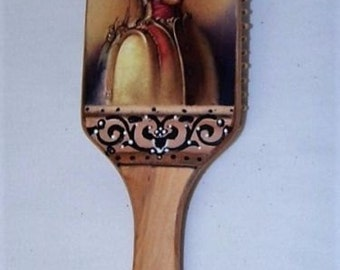 Hand decorated perfect present Large Paddle Hairbrush Cushion Massage Hair comb