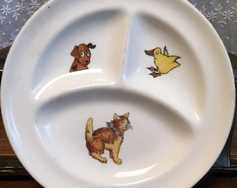 Vintage Divided Child's Dish