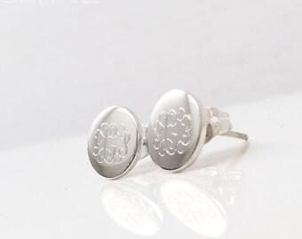 Stunning Studs - Gold or Sterling Monogram Earrings - Trendy Monogram Jewelry - Initial Jewelry