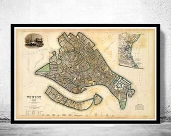 Vintage Map of Venice 1838