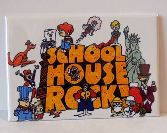 "School House Rock 2"" x 3"" Fridge MAGNET art Vintage Saturday morning"