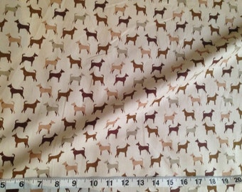 It's a dogs life - Brown 100% Cotton 112cm Wide