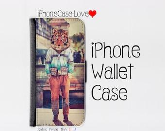 iPhone 6S Plus Case - iPhone 6S Plus Wallet Case - iphone 6S Plus - iPhone 6S Plus Wallet - Tiger
