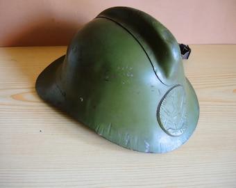 Old Soviet Vintage Real FIREFIGHTER Special metal HELMET USSR era 1940s - 50 / old helmet / collectible hat / Original firefighter helmet