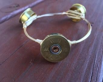 Shotgun Shell Wire Bangle Bracelet