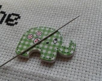 Magnetic needle minder - elephant shaped (needle nanny, needle keeper) embroidery cross stitch crewel needlepoint