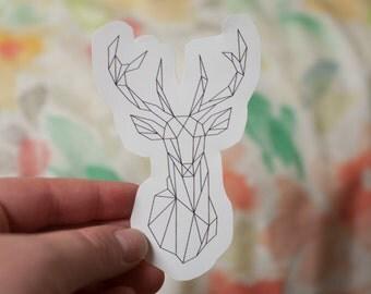 Geometric Deer Decal: Laptop Sticker