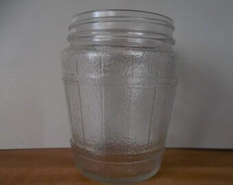 vintage jar frosted glass old barrel jar vintage barrel style container glass barrel jar glass vase glass table decor flower vase