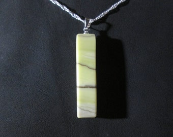 Healite pendant on 18 inch necklace - HP16