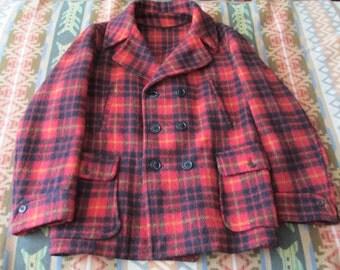 One authentic 1930-1940 Block Bilt mackinaw wool coat