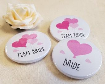 Cute Balloon Hen Do / Wedding / Team Bride / Bride / Bridal Shower Badge / Accessories (A Set)