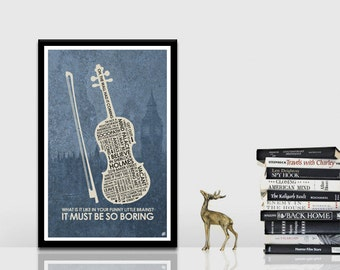 Sherlock (violin) Quote Poster