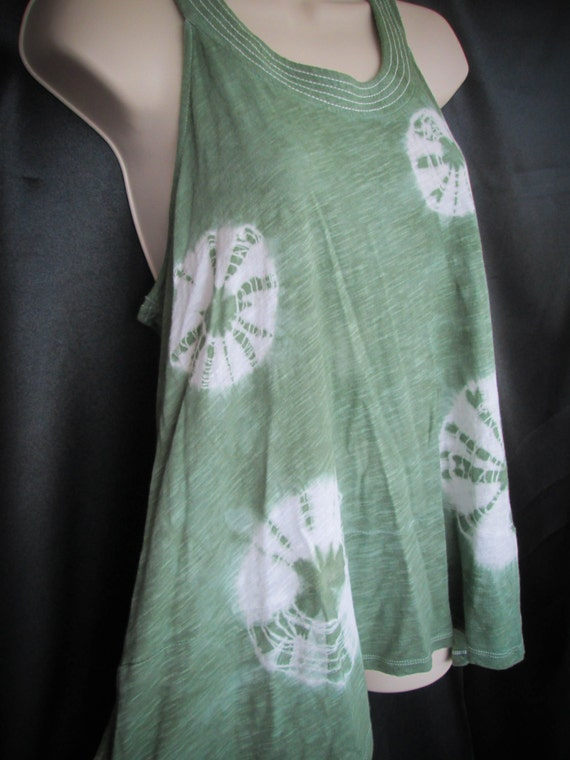 Hand Dyed Tunic Side Slit Tie Dye Tank Top