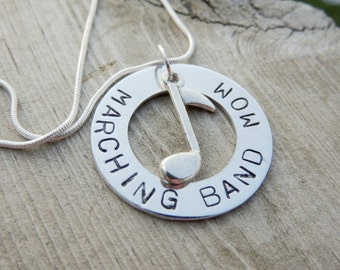 Necklace for marching band mom, birthday  gift for drum line mom, presents for band teacher, music teacher, piano teacher, musician gift