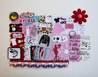 Grease Musical Play Movie Custom Chipboard Mini Book Album DIY Kit Scrapbooking