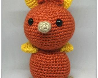 Pokemon Inspired Amigurumi Torchic Plush Crochet Toy
