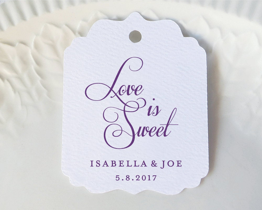 Personalized Gift Tags Love is Sweet Wedding by SandpiperPress