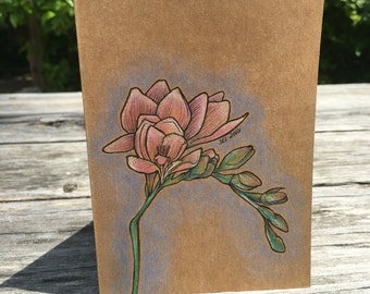 Flower - Hand Drawn Greeting Card