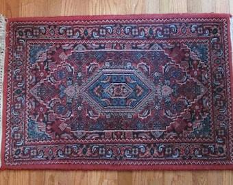 2'x3' Persian Rug 100% Wool 1930's Hand Woven