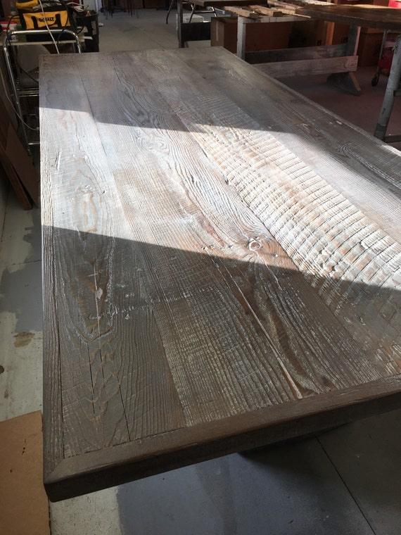 Reclaimed wood table top weathered grey by FreshRestorations : il570xN906846272qrzl from www.etsy.com size 570 x 760 jpeg 113kB