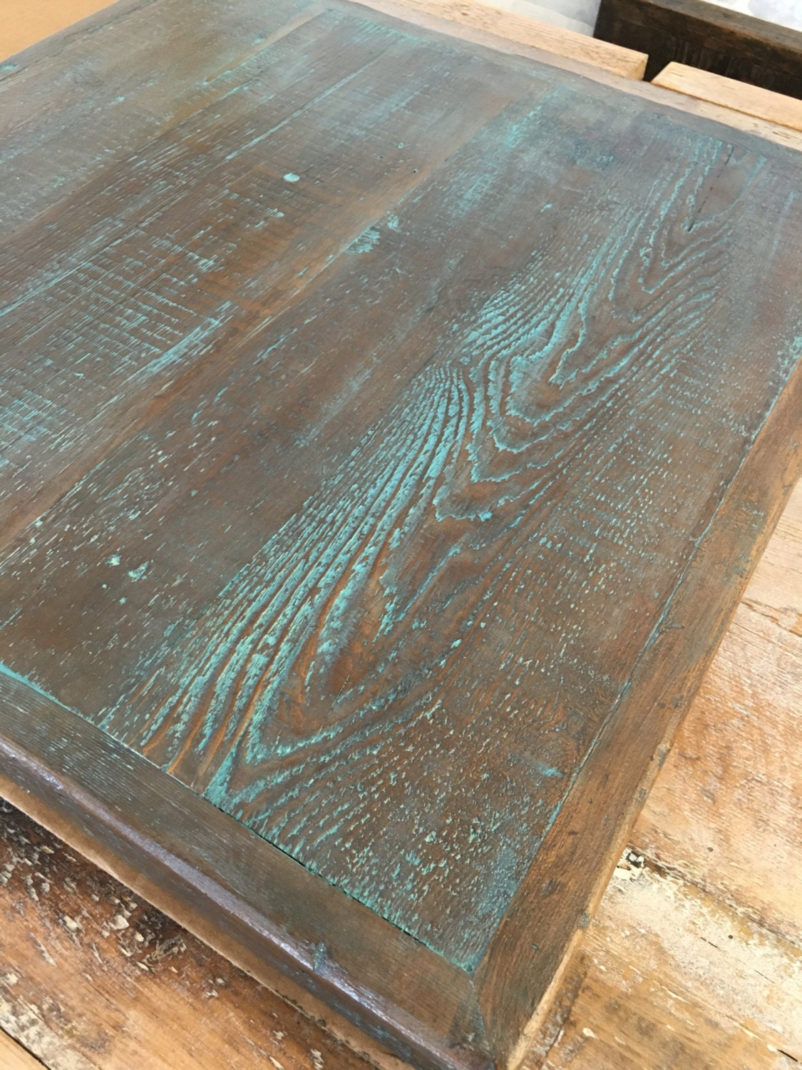 Dining Table Top Reclaimed Wood Patina Finish 24 X