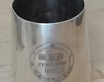 Antique EPNS Tankard engraved and dated 1895