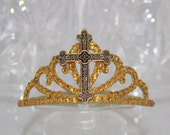 Prodigal Crowns And Tiaras - Cross Headband - Baptism Gifts For Girls - First Communion Gift - Christening Gifts - First Holy Communion