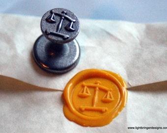 Scales of Justice/Libra Wax Seal