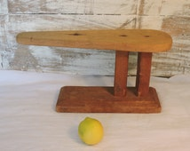 Vintage Ironing Stand - French Wooden Ironing Board For Sleeves - Objet d'Art