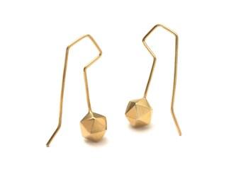 Icosahedron Sacred Geometry Hook Earrings