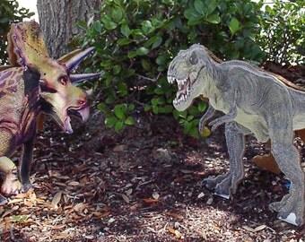 Two Sided Dinosaur Cardboard Cutout