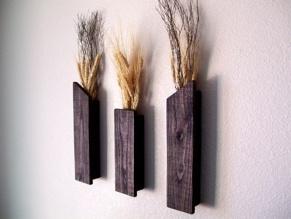 Wall Sconce Vases For Flowers : Rustic Vases Wall Vases Flower Vase Wall Sconce Floral Decor