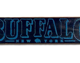 Buffalo, New York wooden sign