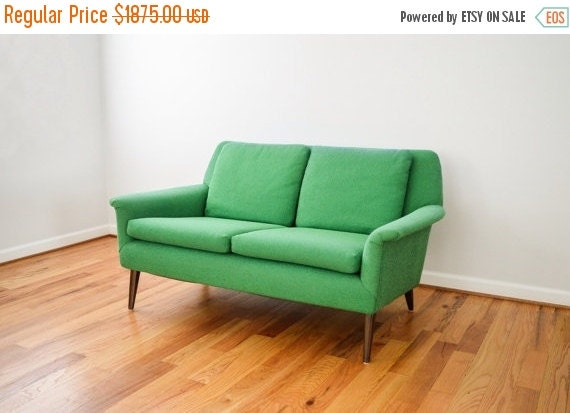 Sale Mid Century Sofa Loveseat Couch Beautiful By Littlecows