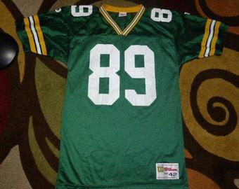 Vtg Mark Chmura Green Bay Packers NFL Wilson Jersey Sz Men's 42 M