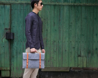 Suoran Macbook Pro Retina 15 Bag  Wool Felt Sleeve Case Dell 2015 New XPS 15 Portable Laptop bag Briefcase