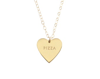 "My Heart Belongs To ""PIZZA"" Necklace - 1064"