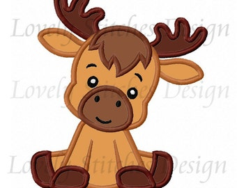 Christmas Reindeer Baby Applique Machine Embroidery Design NO:0466