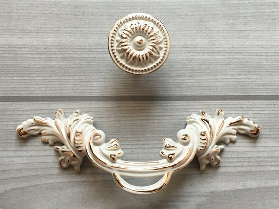 2 5 shabby chic com pull cassetto tira maniglie oro for Rustico paese francese