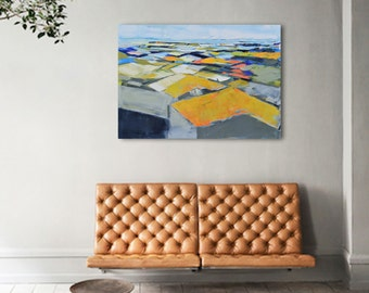 Abstract painting, modern minimalist large canvas art 39.37/27.5 100/70cm. Free shipping. Landscape 94