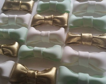 Bow Tie Fondant Cupcake Toppers