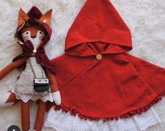 Swing cape Red Riding Hood style, made to order