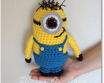 Crochet Minion inspired Toy, Crochet Toy, Papoy Toy, Suffed Toy