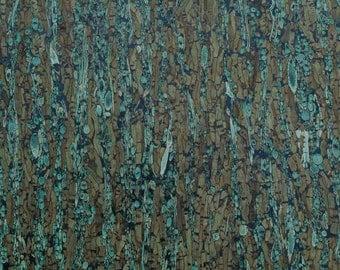 Natural Cork Fabric - Cork & Fennel Green