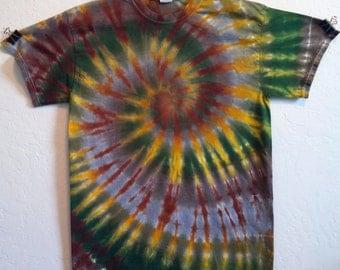 Tie Dye Spiral T Shirt, Medium!