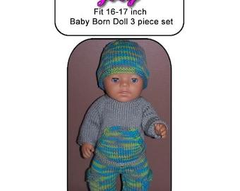 Baby Born Knitting Pattern, JOEY