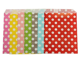 Polka dot candy loot party bags x 50