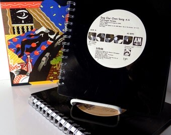 UB40 & Cutting Crew - vinyl record notebook or journal