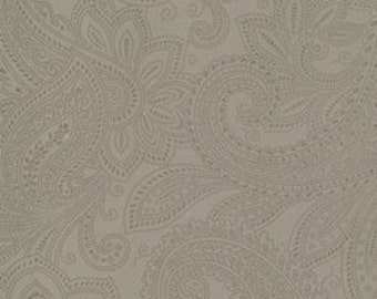 Moda Puzzle Pieces Grey Gray Paisley Background Fabric 1007-58 BTY 1 yd